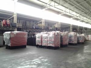 Твердотопливные котлы Emtas в складской зоне на заводе в Турции
